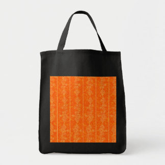 orange Goldmuster-Verzierungshintergrund Einkaufstasche