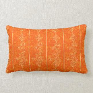 orange Goldmuster-Verzierungshintergrund Kissen