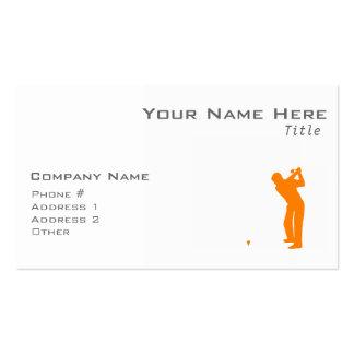 Orange Golf Visitenkarten