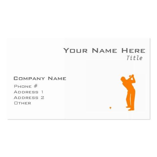 Orange Golf Visitenkarte