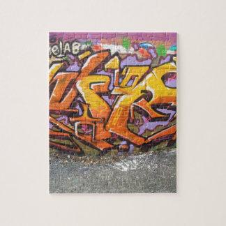 Orange Graffitiumbau Puzzle