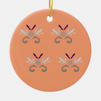 Orange Grau der Luxusverzierungen Keramik Ornament