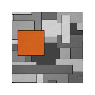 Orange graue abstrakte geometrische Kunst Leinwanddruck