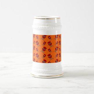 Orange Grillmuster Kaffee Haferl
