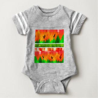 Orange grüner Fall-themenorientierte Tapete Baby Strampler