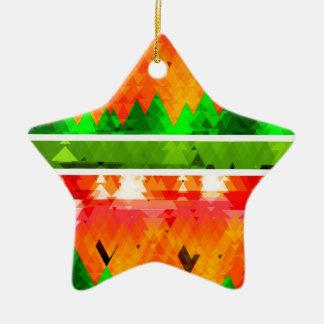 Orange grüner Fall-themenorientierte Tapete Keramik Stern-Ornament