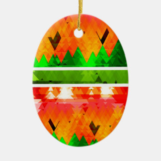 Orange grüner Fall-themenorientierte Tapete Ovales Keramik Ornament