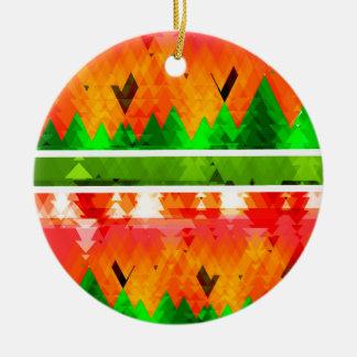 Orange grüner Fall-themenorientierte Tapete Rundes Keramik Ornament