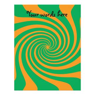 Orange grüner Strudel Flyerbedruckung