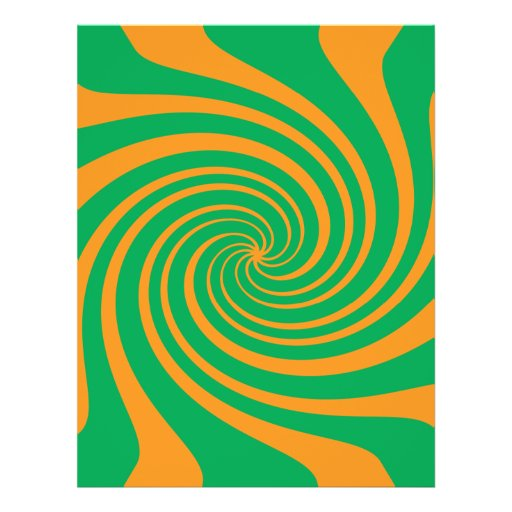 Orange grüner Strudel Individuelle Flyer