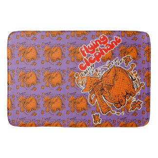 orange Halbtonbild des Fliegenelefanten deckte Badematte