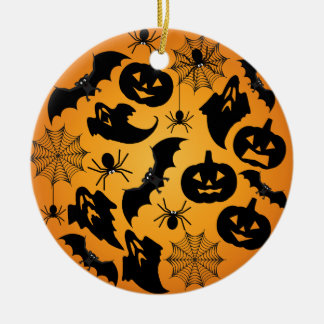 Orange Halloween-Verzierung Keramik Ornament