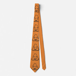 Orange HalloweenVampire kacken Emoji Krawatte