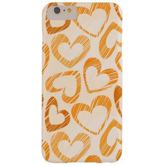 Orange Herzen Barely There iPhone 6 Plus Hülle