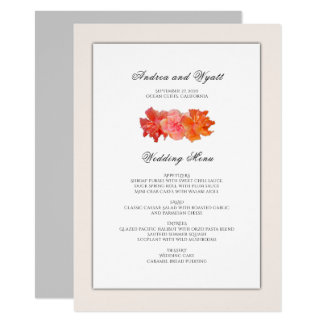 Orange Hibiskus-hawaiische 11,4 X 15,9 Cm Einladungskarte