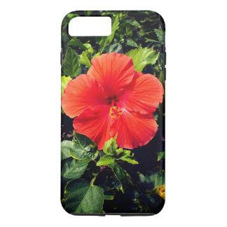 Orange Hibiskus iPhone 8 Plus/7 Plus Hülle