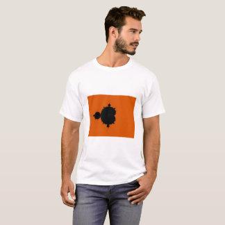 Orange Hintergrund Mandelbrot Fraktal-T - Shirt