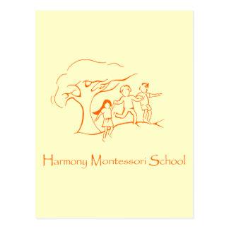 Orange HMS-Logo Postkarte