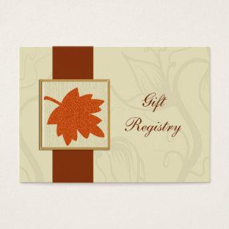 orange Hochzeit im Herbst Geschenkladen Karten