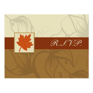 orange Hochzeit im Herbsts-uAwgkarten Postkarte