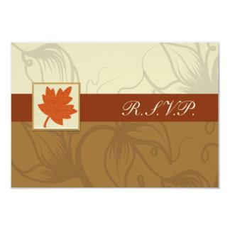 orange Hochzeit im Herbsts-uAwgstandard 3,5 x 5 Karte