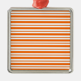 Orange horizontaler Nadelstreifen Silbernes Ornament