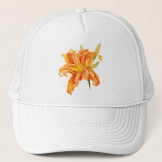 Orange Hut der feinen Kunst doppelten Truckerkappe