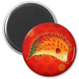 Orange Igel mit Punkt-Magneten Runder Magnet 5,7 Cm
