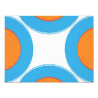 Orange im blauen Punkt Fotodruck