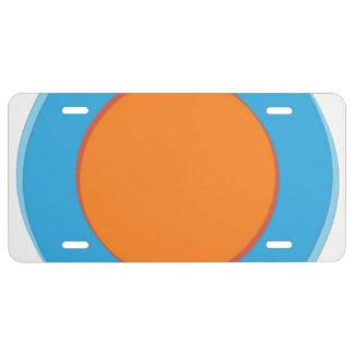 Orange im blauen Punkt US Nummernschild