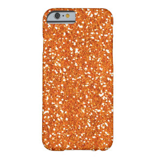 Orange Imitat-Glitzer iPhone 6 Kasten Barely There iPhone 6 Hülle