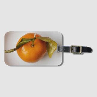 Orange in der weißen Platten-Kunst-Fotografie Kofferanhänger