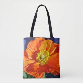 Orange isländische Mohnblume Tasche