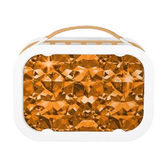 Orange ist unverschämte funkelnde Diamanten Brotdose