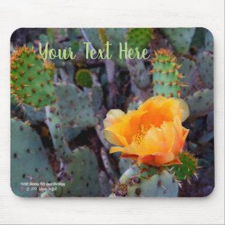 Orange Kaktus-Blüten-Foto der stacheligen Birne Mousepad