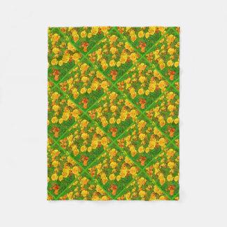 Orange Kalifornien-Mohnblumen 2.2.2.g Fleecedecke