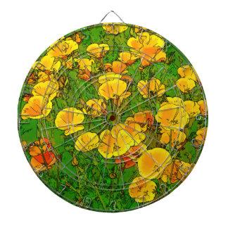 Orange Kalifornien-Mohnblumen 2.2_. Dartscheibe