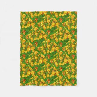 Orange Kalifornien-Mohnblumen 2,2 Fleecedecke