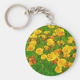 Orange Kalifornien-Mohnblumen 2.2_. Schlüsselanhänger