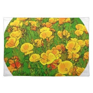 Orange Kalifornien-Mohnblumen 2.2_. Tischset