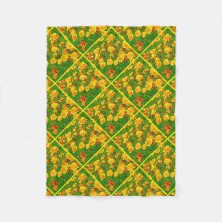 Orange Kalifornien-Mohnblumen 2.2.y Fleecedecke