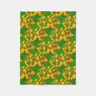 Orange Kalifornien-Mohnblumen Fleecedecke