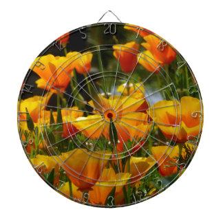 Orange Kalifornien Poppies_3.1 Dartscheibe
