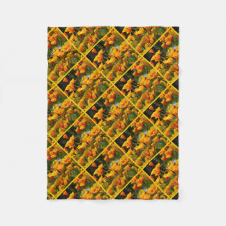 Orange Kalifornien Poppies_3.3.y Fleecedecke