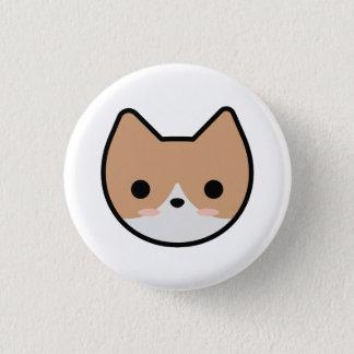 Orange Kätzchen-Knopf Runder Button 3,2 Cm