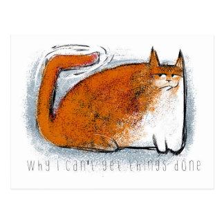 Orange Katze mit dem wiggly Schwanz Postkarte