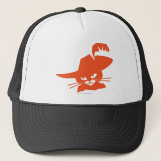 Orange Katze Truckerkappe