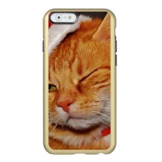 Orange Katze - Weihnachtsmann-Katze - frohe Incipio Feather® Shine iPhone 6 Hülle
