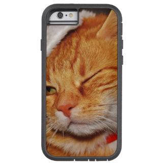 Orange Katze - Weihnachtsmann-Katze - frohe Tough Xtreme iPhone 6 Hülle