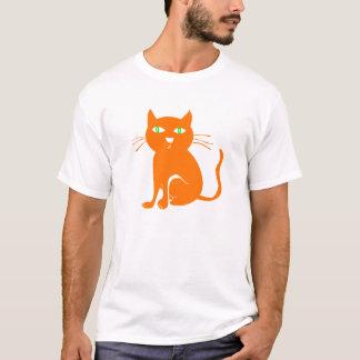 Orange Katzen-Halloween-T - Shirt (Kleinkind)